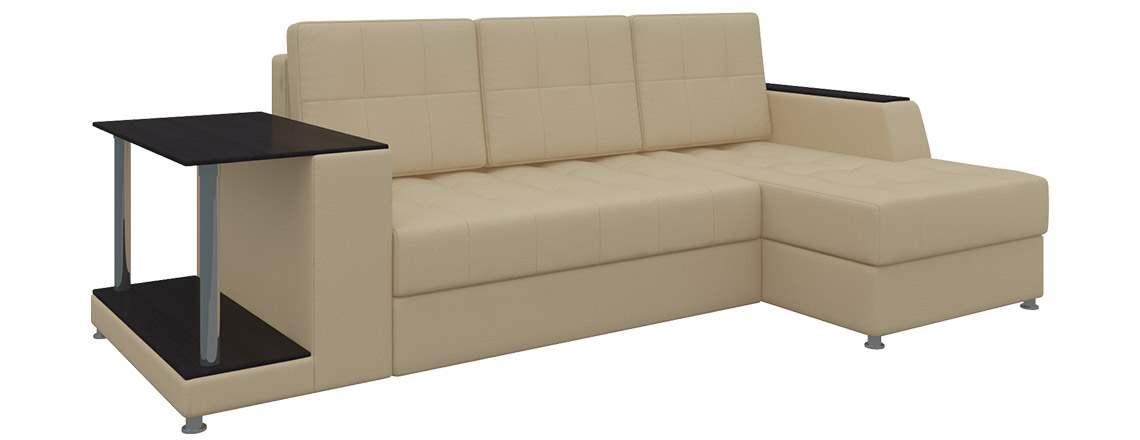 Угловой диван Атланта (экокожа) (Пружинный блок, ППУ ...