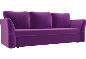 Диван прямой Гесен Фиолетовый (Микровельвет)