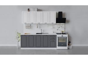 Кухонный гарнитур «Лина» длиной 200 см (Белый/Белый/Графит)