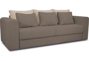 Диван «Вилсон» Neo 04 (рогожка) светло-коричневый, подушка Neo 02 (рогожка) бежевый