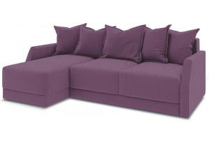 Диван угловой левый «Люксор Slim Т1» (Kolibri Violet (велюр) фиолетовый)