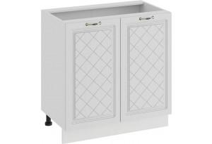 Шкаф напольный с двумя дверями «Бьянка» (Белый/Дуб белый)