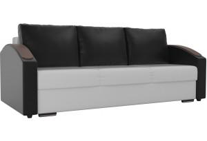 Прямой диван Монако slide Белый/Черный (Экокожа)