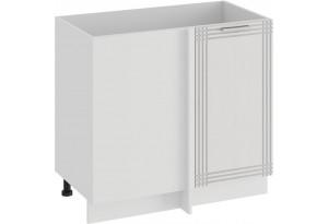 Шкаф напольный угловой «Ольга» (Белый/Белый)