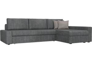 Угловой диван Версаль серый/бежевый (Рогожка)