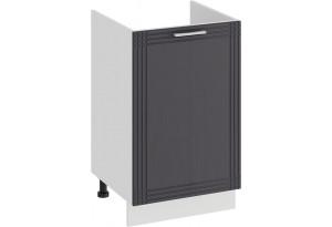 Шкаф напольный с одной дверями (под накладную мойку) «Ольга» (Белый/Графит)