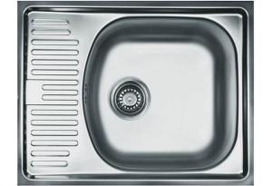 Мойка кухонная врезная Franke ETN 611-56, малое крыло, 560х435
