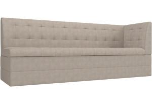 Кухонный диван Бриз с углом Бежевый (Рогожка)