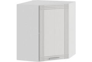 Шкаф навесной угловой «Ольга» (Белый/Белый)