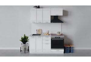 Кухонный гарнитур «Долорес» длиной 160 см со шкафом НБ (Белый/Сноу)