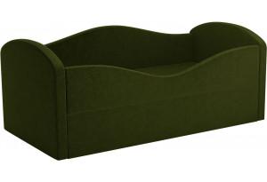 Детская кровать Сказка Зеленый (Микровельвет)