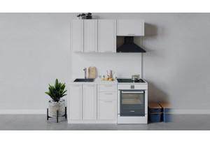 Кухонный гарнитур «Ольга» длиной 160 см (Белый/Белый)