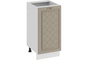 Шкаф напольный с одной дверью «Бьянка» (Белый/Дуб кофе)