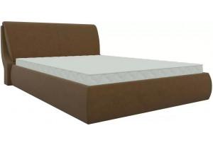 Интерьерная кровать Принцесса Коричневый (Микровельвет)