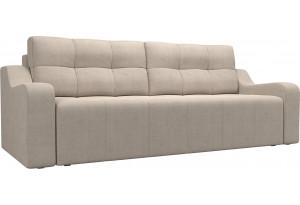 Прямой диван Итон Бежевый (Рогожка)