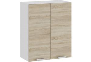 Шкаф навесной c двумя дверями «Гранита» (Белый/Дуб сонома)