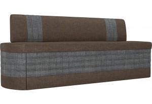 Кухонный прямой диван Токио коричневый/Серый (Рогожка)