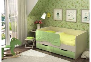 Детская кровать Два дельфина МДФ