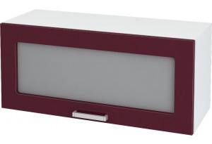 Ксения Навесной шкаф (Газовка) 800 мм с дверцей и стеклом