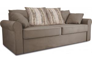 Диван «Шерри» Kolibri Mocco (велюр) коричневый, подушки Tiffany wood (шинил) древесный