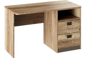 Стол с ящиками «Пилигрим» Дуб Каньон светлый, Фон серый