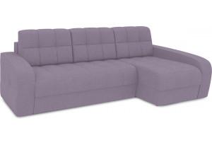 Диван угловой правый «Аспен Т2» (Neo 09 (рогожка) фиолетовый)