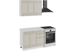 Кухонный гарнитур «Долорес» стандартный набор (Белый/Крем)