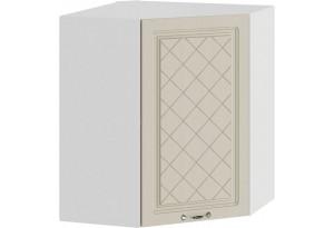 Шкаф навесной угловой «Бьянка» (Белый/Дуб ваниль)