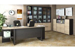Набор офисной мебели для кабинета руководителя №2 «Успех-2» Венге Цаво, Дуб Сонома