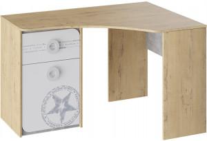 Стол угловой «Мегаполис» Бунратти/Белый с рисунком