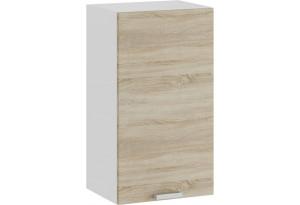 Шкаф навесной c одной дверью «Гранита» (Белый/Дуб сонома)
