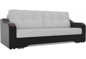 Прямой диван Браун Белый/Черный (Экокожа)