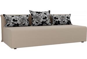 Прямой диван Кесада Бежевый (Рогожка)