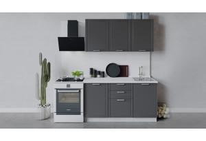 Кухонный гарнитур «Ольга» длиной 150 см (Белый/Графит)