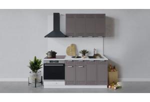 Кухонный гарнитур «Долорес» длиной 180 см со шкафом НБ (Белый/Муссон)