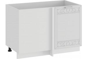 Шкаф напольный угловой «Долорес» (Белый/Сноу)