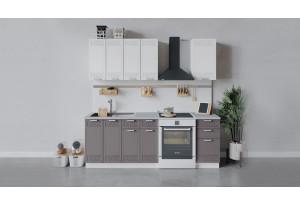 Кухонный гарнитур «Долорес» длиной 160 см (Белый/Сноу/Муссон)