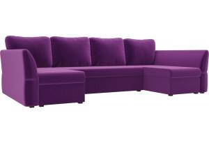 П-образный диван Гесен Фиолетовый (Микровельвет)