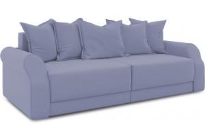 Диван «Люксор» (Poseidon Blue Graphite (иск.замша) серо-фиолетовый)