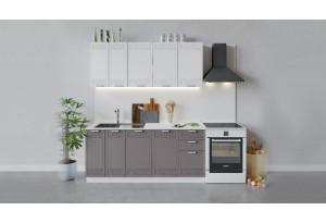 Кухонный гарнитур «Долорес» длиной 180 см (Белый/Сноу/Муссон)