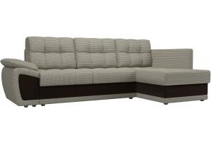 Угловой диван Нэстор прайм Корфу 02/коричневый (Корфу/Микровельвет)