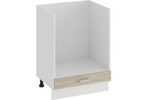 Шкаф напольный под бытовую технику «Гранита» (Белый/Дуб сонома)