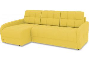 Диван угловой левый «Аспен Slim Т2» (Neo 08 (рогожка) желтый)