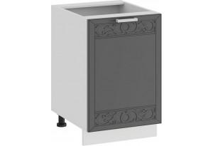 Шкаф напольный с одной дверью «Долорес» (Белый/Титан)