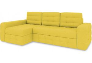 Диван угловой левый «Райс Т2» (Neo 08 (рогожка) желтый)