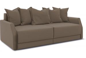 Диван «Люксор Slim» Kolibri Mocco (велюр) коричневый