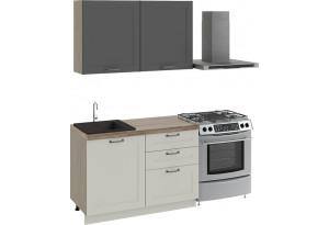 Кухонный гарнитур стандартный набор «Одри» ОДРИ (Серый шелк)/ОДРИ (Бежевый шелк)