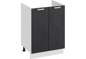 Шкаф напольный с двумя дверями (под накладную мойку) «Гранита» (Белый/Бетон графит)