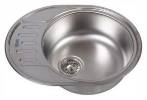 Мойка кухонная врезная Franke Polar PXN 611-57, овальное, полукрыло, 570х450