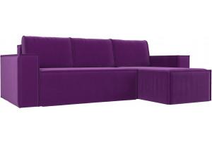Угловой диван Куба Фиолетовый (Микровельвет)